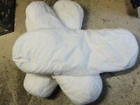 oreiller traversin polochon 70cm garnissage polyester siliconé