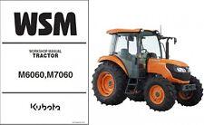 Kubota M6060 M7060 Tractor WSM Service Manual CD