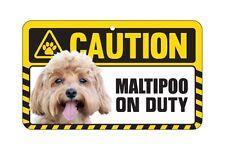 Dog Sign Caution Beware - Maltipoo