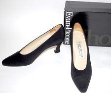 "Evan Picone ALTO Arianna Silk Heels 8.5 N Black 3"" Kitten Heel EUC In Box"
