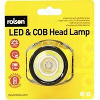 Rolson LED & COB Head Lamp Adjustable Strap LED - 61461