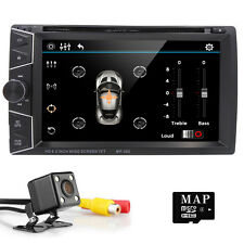 "6.2""HD Monitor Car GPS Double Din Stereo Radio DVD MP3 Player Bluetooth TV+Cam"