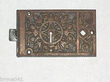 Antique Eastlake Era Rim Lock by  B&L Very Nice Very Ornate