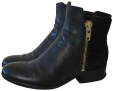3.1 Phillip Lim Black Leather and Suede Alexa Boots with Gold Zip Size 37