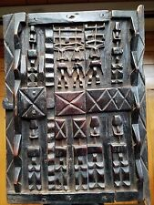 ANTIQUE AFRICAN DAN DOGON CARVED WOOD GRANARY STORAGE DOOR IVORY COAST.