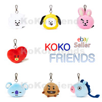 BTS BT21 Official Plush Doll Face Key Ring Keyring Authentic KPOP Goods Merch MD