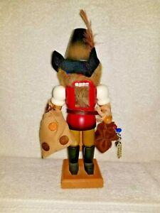 "Christian Ulbricht Vintage NUTCRACKER The Bank Robber & Jewel Theif - 10.5"" Tall"