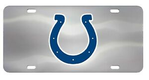 Indianapolis Colts Chrome Die Cast License Plate