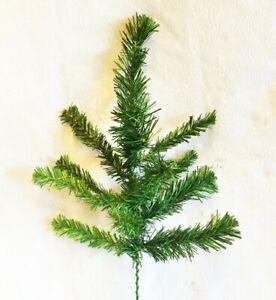 12 Pine Picks 1 Doz Stems PVC Christmas Tree Wreath Artificial Greenery Fake