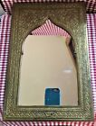 Vintage Antique Ornate EAST INDIA STYLE BRASS FRAMED MIRROR from Morocco