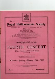 1925 Queen's Hall Concert Program 44 Pages Ernest Ansermet Joseph Szigeti Violin