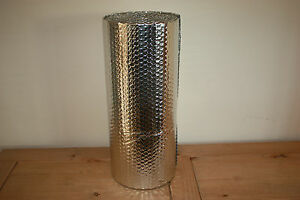 Double Foil Bubble Insulation, floor wall caravan shed loft 5m2 Free UK P&P