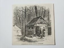 Battle of Gettysburg Cook House Hospital 1864 Civil War Sketch Print