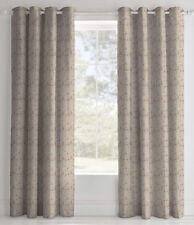 Beige Floral Eyelet Curtains 72s