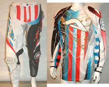 """ACERBIS Alkatraz blue/red 30"""" pant & L shirt. Schoolboy mx /Moto x /Enduro /MTB"""