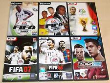 6 PC SPIELE SAMMLUNG FIFA FOOTBALL 2002 2003 2006 07 08 PES PRO EVOLUTION SOCCER