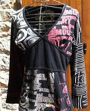 DESIGUAL Haut Manches longues - size M - Tee Shirt - Manga Larga - long sleeves