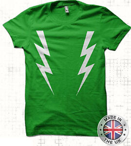 Noel Fielding Lightening bolts T Shirt mighty boosh