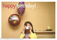Postcard: eBay - Happy Birthday!: Girl With Digital Camera (Promo)