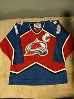 Colorado Avalanche Joe Sakic NHL CCM Jersey Size Large