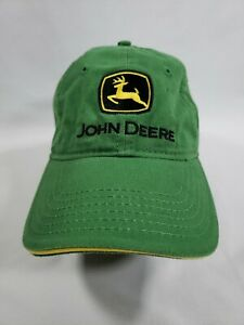 John Deere Black and Yellow Embroidered Hat - Strap back cap. 100% cotton