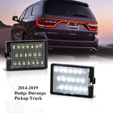For 2014-2020 Dodge CHRYSLER Durango White LED License Plate Tag Lights Lamp SET