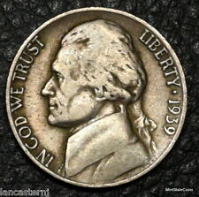 1939-D Jefferson Nickel (Circulated)No Added Shipping & Satisfaction Guaranteed!