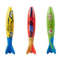 3pcs Underwater Torpedo Rocket Swimming Pool Toy Swim Dive Sticks Holiday Gift F