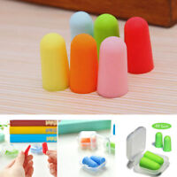 5 Pairs Safe Soft Foam Ear Plugs Tapered Travel Sleep Noise Prevention Earplugs
