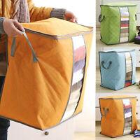 Compact Clothing Quilt Storage Bag Case Blanket Closet Sweater Organizer Box