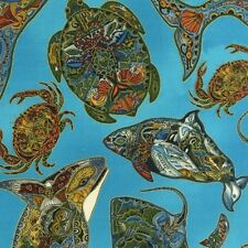 Robert Kaufman Fabric, Animals Spirits Earth by Sue Coccia, Quilting Crafting