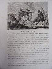L.F BERTECHE Colonel du 16e Régiment  de Chasseur à Cheval né le 14 oct. 1764