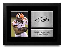 More details for odell beckham jr a4 cool gift idea signed prints for nfl american football fans