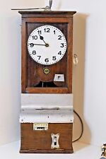 Vintage Electric Attendance Punch Clock Blick Time Recorders Working