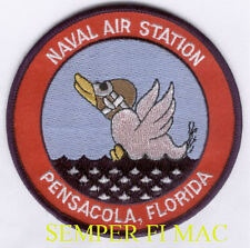 PENSACOLA NAS NAVAL AIR STATION PATCH US NAVY MARINES PIN UP GRADUATION GIFT WOW
