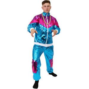 1980S SHELL SUIT COSTUME SCOUSER SHINY RETRO TRACKSUIT MENS LADIES FANCY DRESS