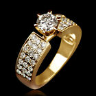 1.8 CARAT REAL SOLITAIRE W ACCENTS DIAMOND 14K YELLOW GOLD ENGAGEMENT RING NIB