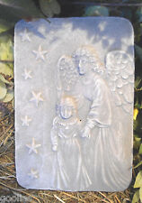 """angel with child plastic concrete mold plaster mould 9"""" x 6"""" x 1"""" thick"""
