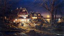 "Terry Redlin ""Harvest Moon Ball"" Barn Dance Art Print  18"" x 10.5"""