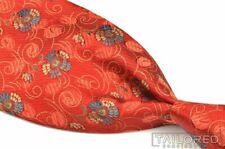 "ERMENEGILDO ZEGNA Orange Floral 100% Silk Mens Luxury Tie - 3.75"""