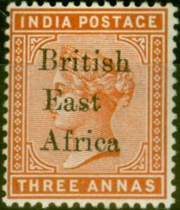 B.E.A KUT 1895 3a Brown-Orange SG54 V.F Lightly Mtd Mint