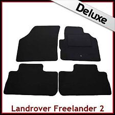 Land Rover Freelander Mk2 2006-2014 Tailored LUX 1300g Carpet Floor Mats BLACK