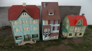 H0/TT Auhagen Konvolut 3 Stk. Gebäude Häuser Stadthäuser (R)