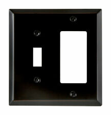 Amerelle Century Aged Bronze 2 gang Stamped Steel Rocker/Toggle Wall Plate