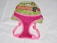 NEW X SMALL Male Female Puppy Dog Pet Pink Adjustable COMFORT SOFT MESH Harness