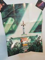 Zelda SNES Super Nintendo Fold-Out Insert Poster Promotional link