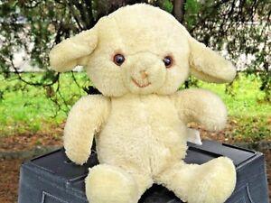 "VERY RARE Vintage Knickerbocker Animals of Distinction Sheep Lamb 10"" Plush Doll"
