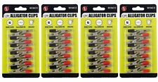 """48x 2"""" Insulated Alligator Clips Color Coded Testing Clamps 4mm Connector"""