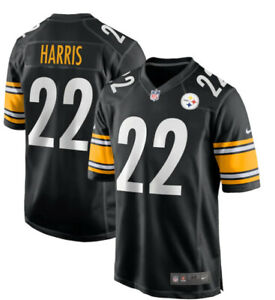 New Men's Pittsburgh Steelers Najee Harris Black 2021 Game Stitched Jersey