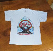 VINTAGE 1987 Slayer Reign in Pain Tour Shirt reprint men's cloting